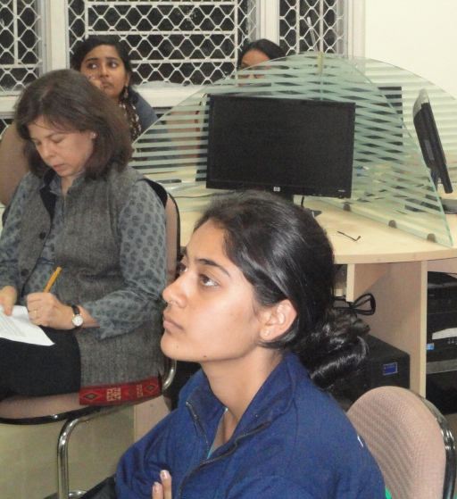 Dr. Laura Stein in the video conference at Governance Networks Lab, CCMG, Jamia