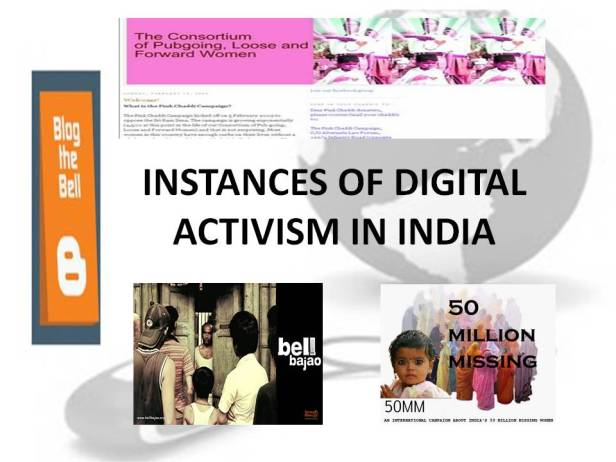 A slide from the presentation on Digital Activism in India