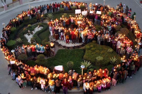 Candle Protests against Delhi Gang Rape (Courtesy: ibnlive.in.com