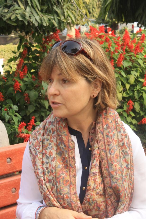 Dr. Minna Aslama Horowitz at Khayaban-e Ajmal, Jamia Millia Islamia