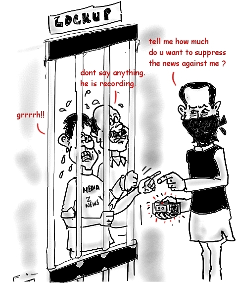 A cartoon on the Naveen Jindal and Zee News row (Courtesy: http://mysay.in/2012/11/29/reverse-sting-operation-of-naveen-jindal-on-zee-news/)