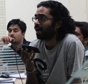 A student participates in the discussion