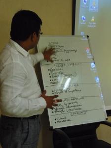 Atanu presenting